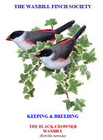 front cover featuring image of black-crowned waxbills