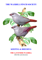 front cover featuring image of a lavender waxbill